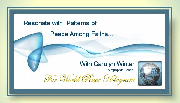 Saturday 9.19.15: Resonate with Patterns of Peace Among Faiths – Focus on Compassion with Carolyn Winter