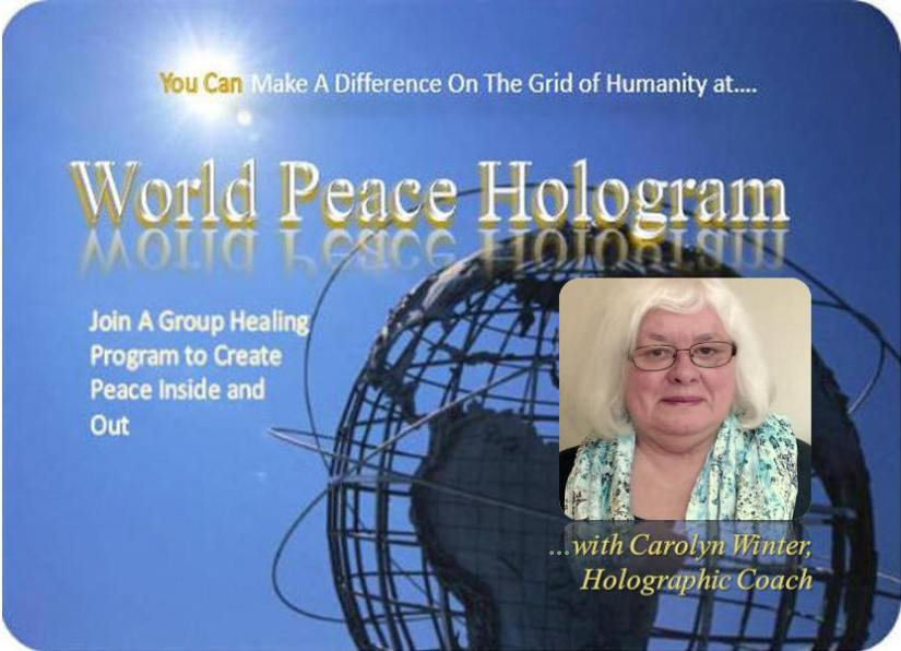 World Peace Hologram Session Today at 4:00pm Eastern